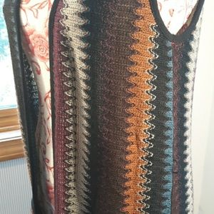 Maxi cardigan duster embroidered small.boutique